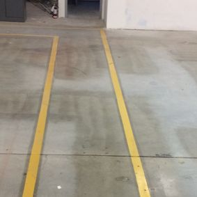 paint lines that leads to the left